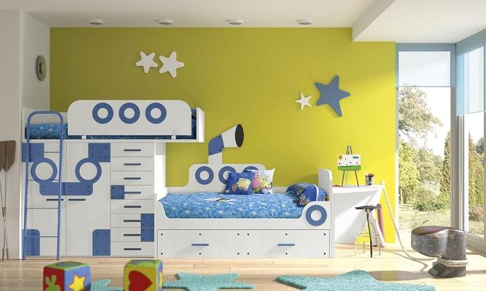 Pintura en dormitorios infantiles pintor bilbao - Pinturas originales para dormitorios ...